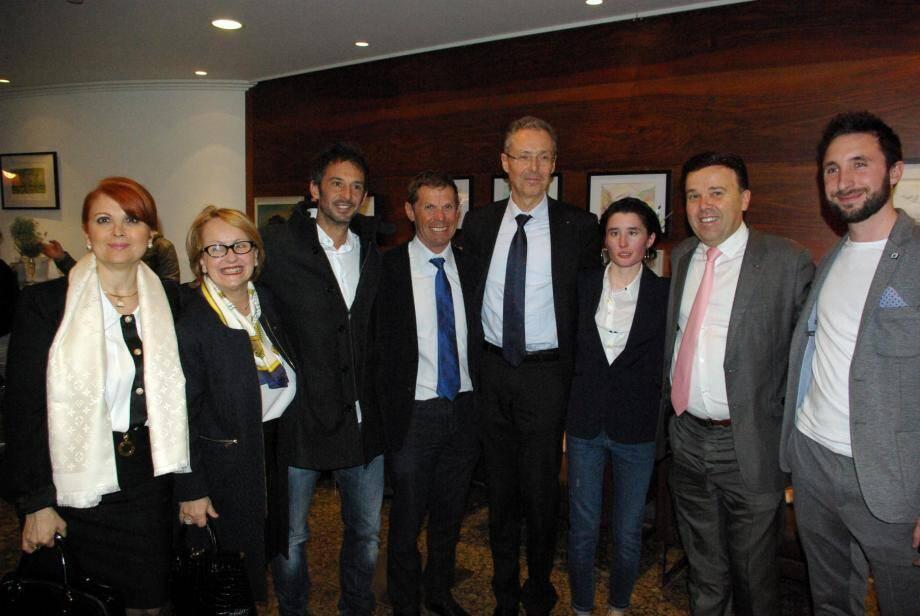 Stéphane Valeri, le président du Conseil national, était présent au vernissage de l'expo, ainsi que Robert Calcagno, directeur du Musée océanographique, le champion Pierre Frolla et Jacques Pastor,  responsable des sports à la mairie de Monaco.