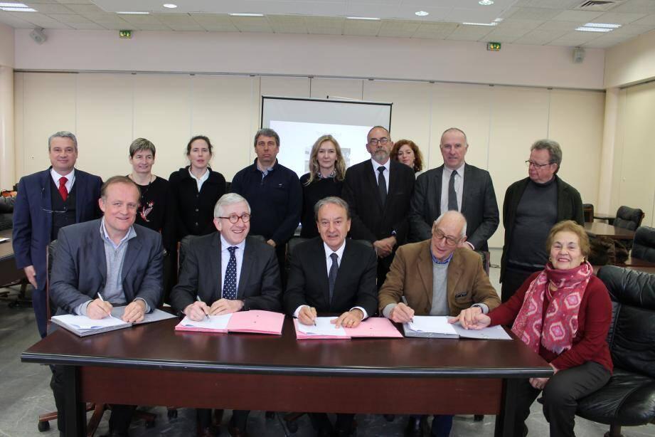 La convention a été signée par le Conservatoire du littoral, le CMN, la municipalité et Cap Moderne.