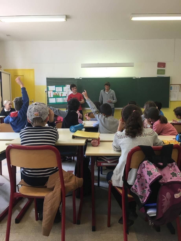 Hier, les élèves de l'école Juan-Gare ont pu apprendre beaucoup de choses concernant les animaux et végétaux protégés, grâce au jeu de Victorien et Nicolas.