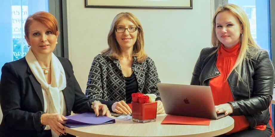 Virginie Cotta, chef de Cabinet du président, Maryse Battaglia, chargée de mission pour les affaires sociales au Cabinet du président et Isabelle Contesneau-Realini, chef du secrétariat du président, viennent d'être nommées au Conseil national.