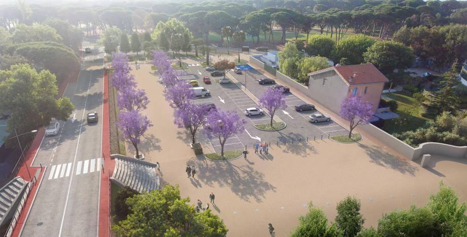 Une vue 3D du nouveau parking de la Pinéa, actuellement en cours de réalisation et qui proposera, à terme,  66 places stationnement. (Photorepro DR)