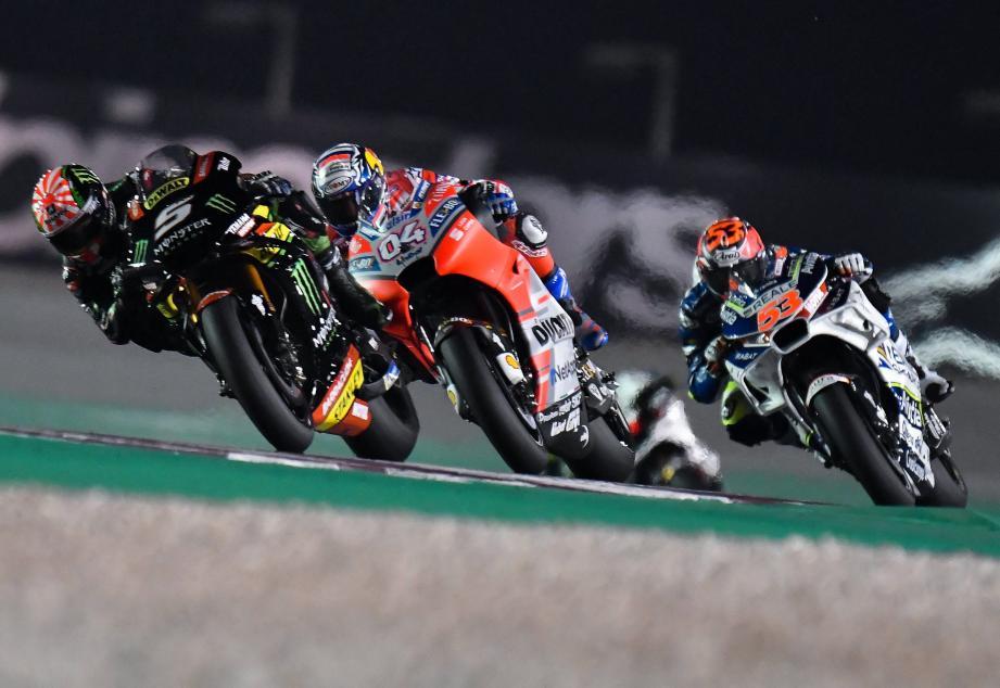 Leader intouchable durant 17 tours, Johann Zarco (Yamaha Tech3) a lâché prise dans le money-time. Au Qatar, cette année, le roi du pétrole s'appelle Andrea Dovizioso (Ducati).