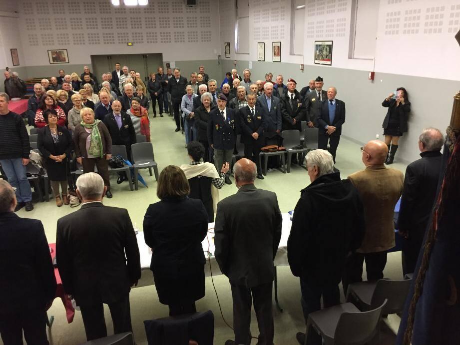 Les anciens combattants se sont réunis dans la salle Cinémonde.(PhotoPh. D.)