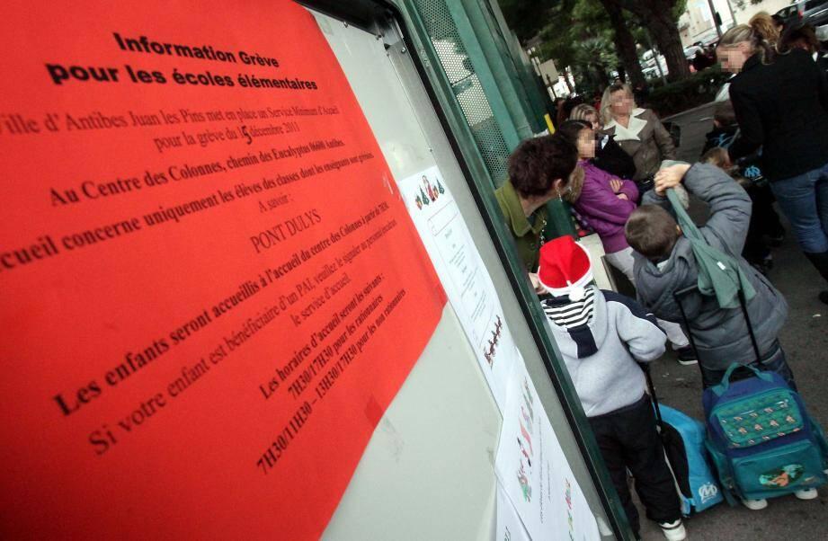Des grèves sont prévues dans les écoles du bassin antibois.