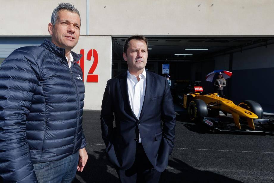 Dans le sillage de Christian Estrosi, Stéphane Clair (circuit Paul-Ricard) et Gilles Dufeigneux (GIP Grand Prix de France) viennent d'entamer la dernière ligne droite avant ce nouveau départ très attendu...