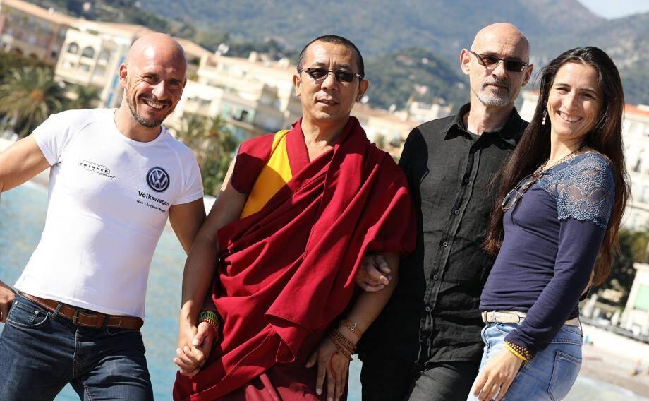 Christophe Cornu, Vincent Garcia et Clara Regnier ont constitué une association pour soutenir l'organisation des venues de Lama Samten et proposer plusieurs événements en lien avec la méditation et le bien-être.
