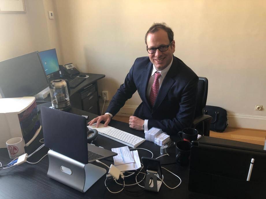 Frédéric Genta dans son bureau sans papiers…