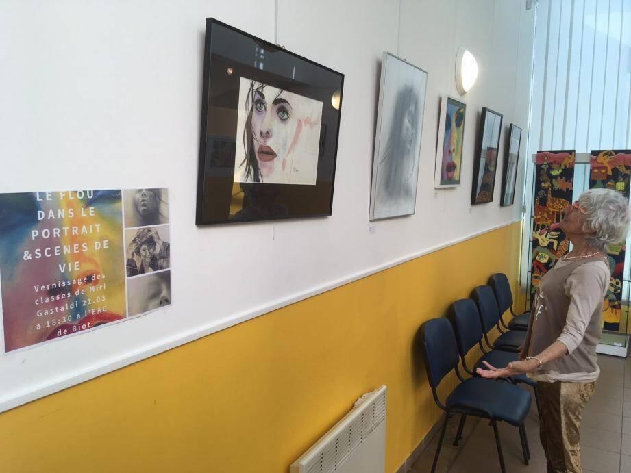 L'exposition présente une trentaine d'œuvres autour du portrait jusqu'au 11 avril à l'Espace des Arts et de la Culture.