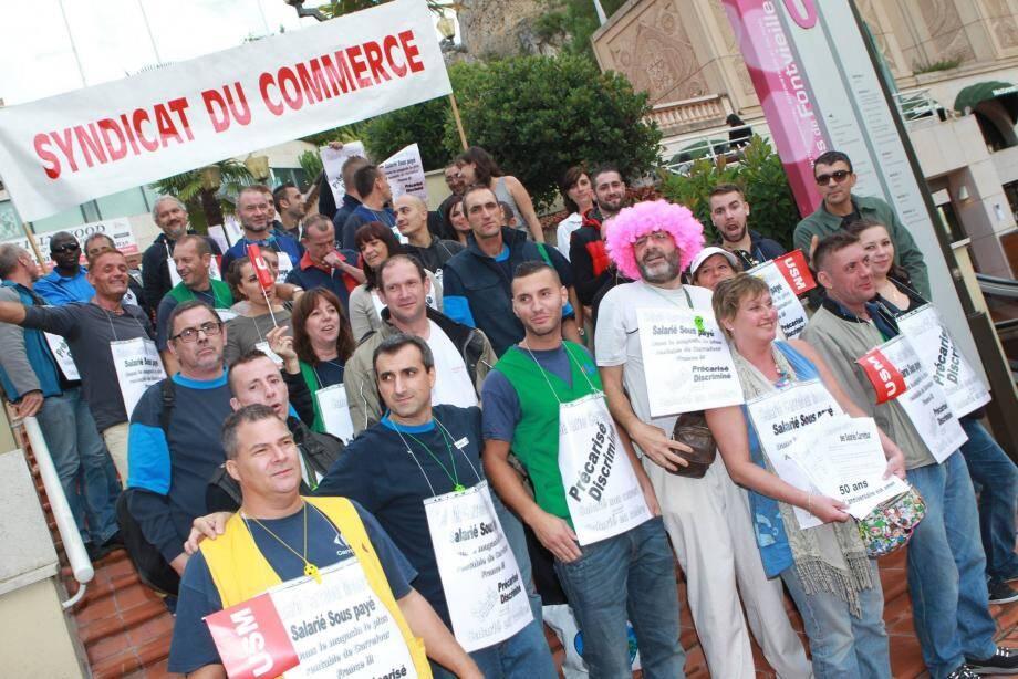 Une centaine de manifestants sont attendus ce matin au centre commercial de Fontvieille.