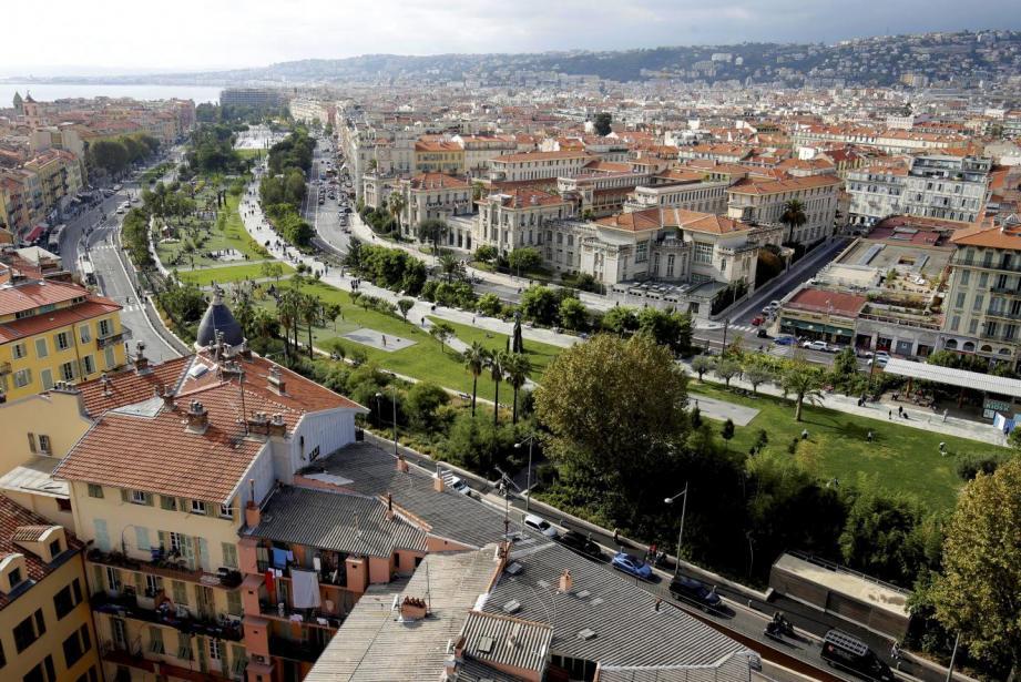 La coulée verte à Nice.