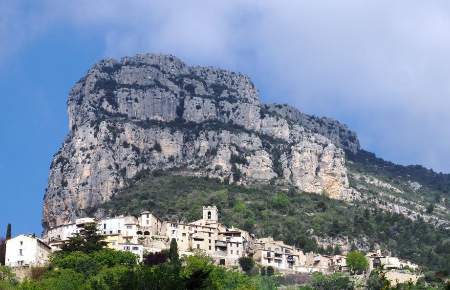 Une vue du village de Saint-Jeannet.