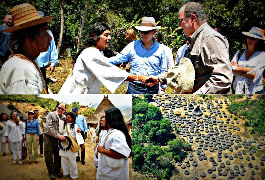 Au cours de son voyage officiel en Colombie, le prince Albert-II est allé à la rencontre des tribus du site de Ciudad Perdida, fondé 800 ans après Jésus Christ