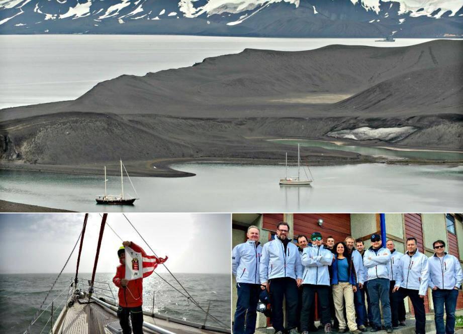 Un hommage a été rendu par l'équipage aux grands navigateurs sur Deception Island, où une couronne de glace a été déposée.
