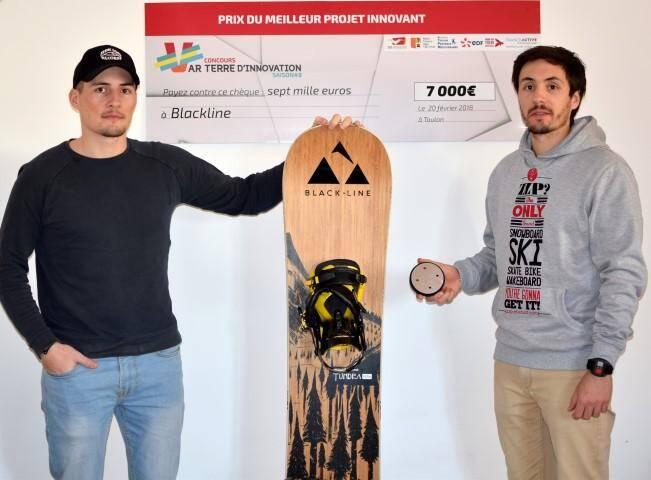 Passionnés de glisse, les frères Garnerone ont eu l'idée d'inventer une fixation rotative pour soulager les genoux des snowboardeurs.