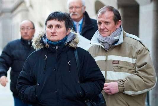 Les parents de Sophie Lionnet au premier jour du meurtre de leur fille à Londres.
