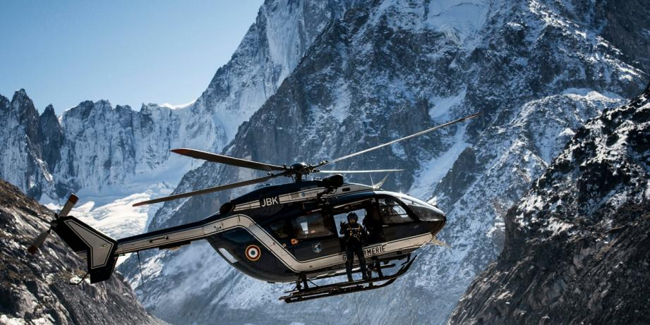 Illustration secours héliportés dans les Alpes.