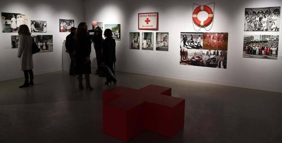 L'exposition mêle photos, vidéos et oeuvres d'artistes majeurs comme Damien Hirst ou Arman.