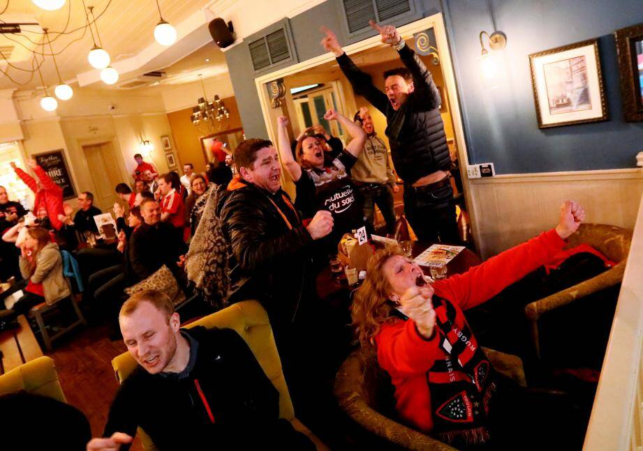 Les supporters du RCT à Londres.