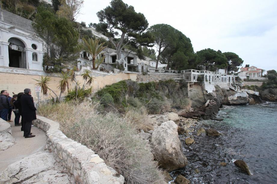 Villa La Colombe sur le front de mer de la commune de Cap d'Ail