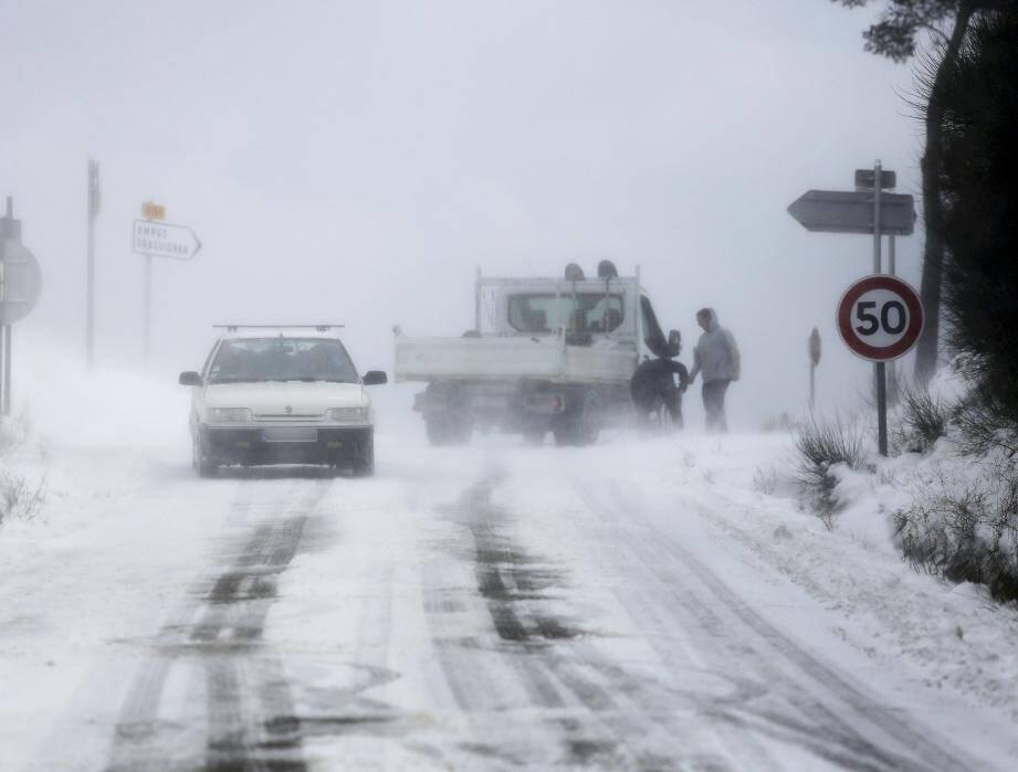 Neige dans le secteur de Draguignan, le 28 février.