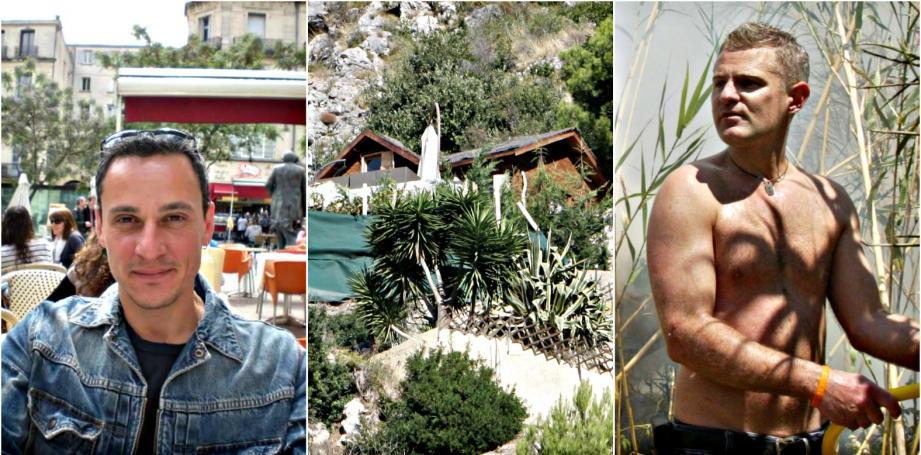 Le cabanon où Marc Mandel (à droite) a abattu Pierre Torregrossa (à gauche). Une mort par accident estime désormais la justice.