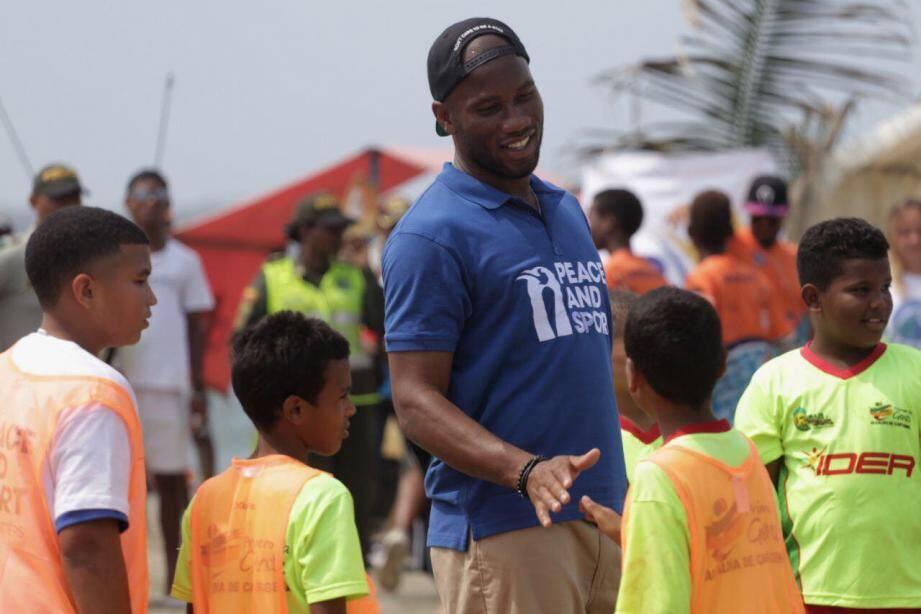 Didier Drogba, champion de la paix de Peace and Sport.