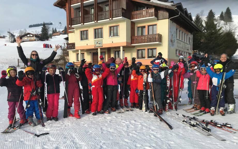 Les enfants sont partis du 23 au 30 mars en Haute-Savoie, à Belleveaux.