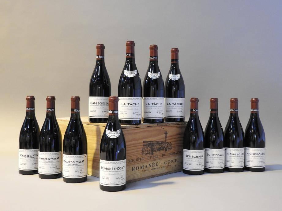 992 bouteilles de vin ont été vendues lors de cette vente aux enchères.