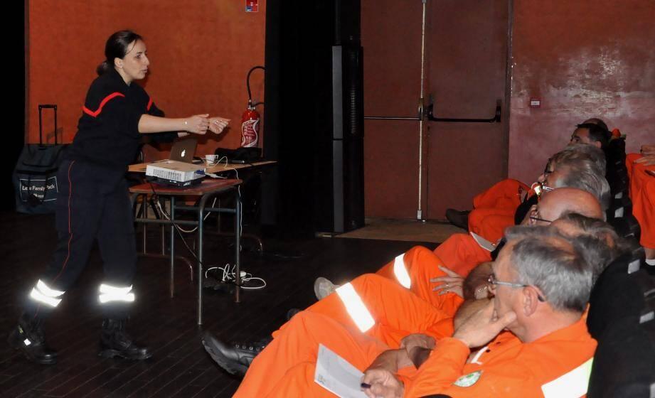 Océane Petit, formatrice de l'union départementale des sapeurs-pompiers du Var.