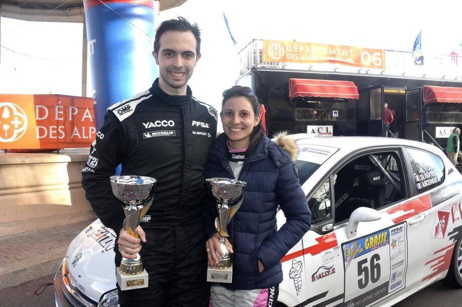 Romain Di Fante, 6e du rallye Fleurs et Parfums en compagnie de Melissa Ascensio.