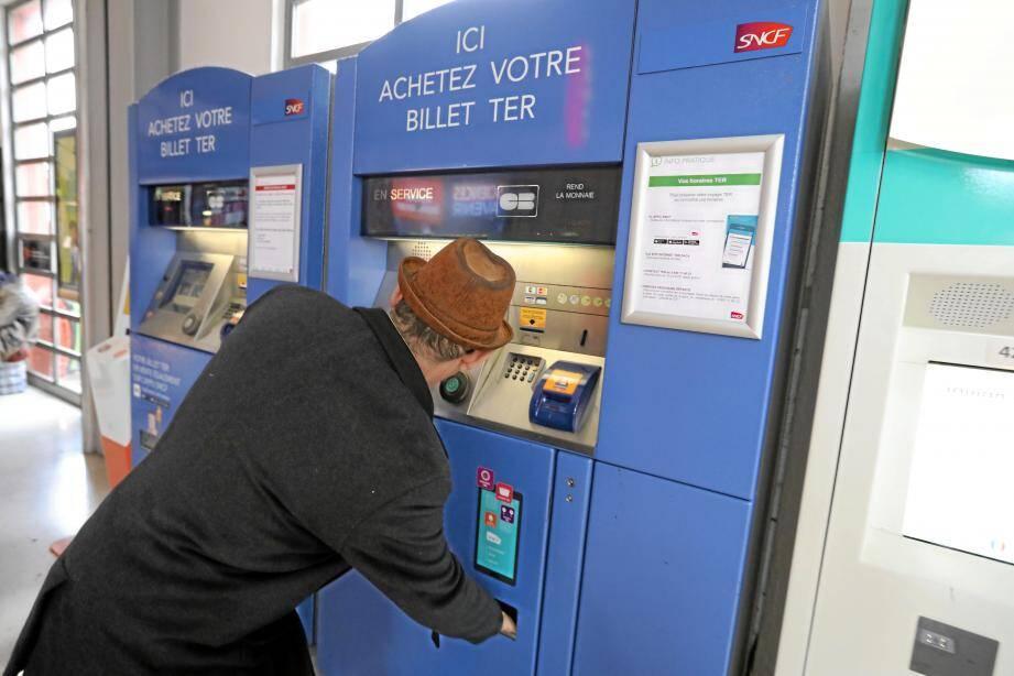 Un distributeur de billets SNCF (image d'illustration).