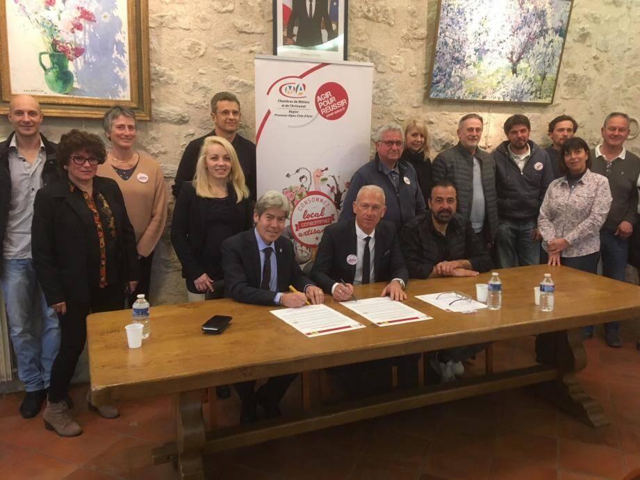 La commune et la Chambre des Métiers se sont engagées pour promouvoir l'activité artisanale sur la commune.