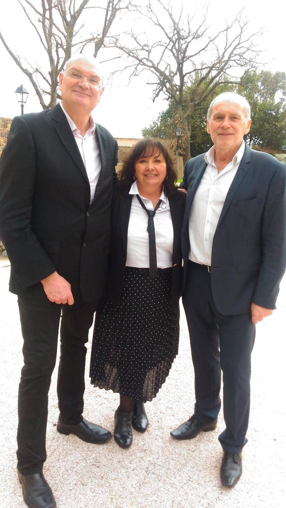 Serge Ternoir (à droite) a pris la présidence de l'Afuzi et succède à Philippe Bartier (à gauche). Quant à Monique Fontaine, elle prendra sa retraite au mois de juin. (D.R.)