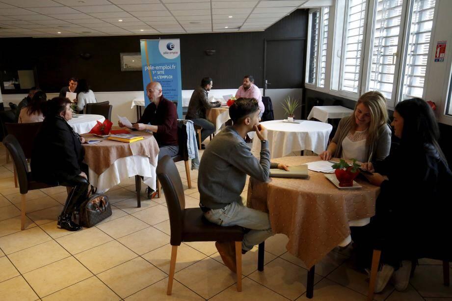 C'est dans les locaux du lycée Paul-Valéry que les acteurs de l'emploi ont organisé ce casting pour les restaurateurs du Mentonnais.