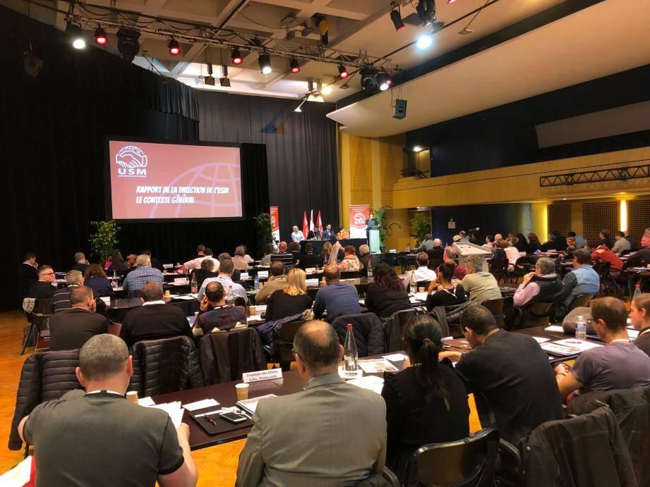 Hier, premier des trois jours du congrès de l'Union des syndicats de Monaco à l'Espace Léo-Ferré. Au programme : le rapport de la direction et la défense des droits et libertés.