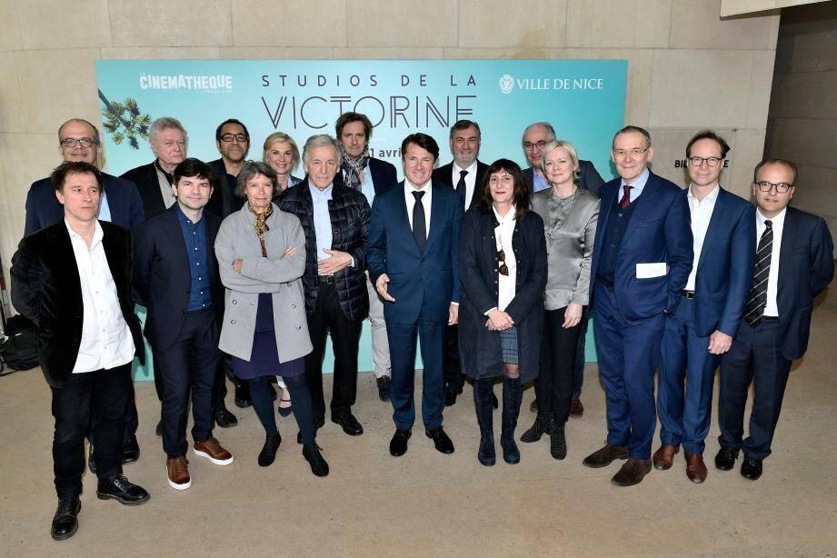Une partie du Comité Victorine, ce mercredi, à la Cinémathèque nationale de Paris.