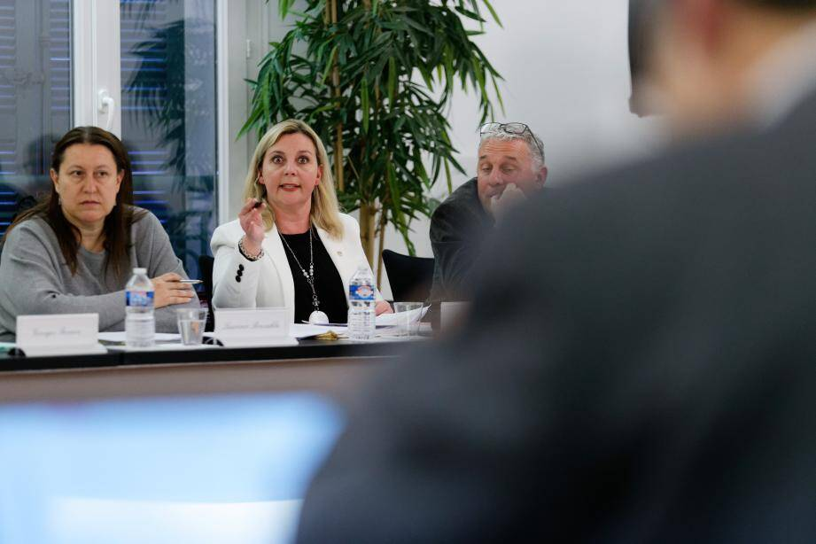 Nathalie Munoz, adjointe au maire déléguée aux finances, a dû longuement justifier la hausse d'une des trois taxes locales auprès de l'opposant Edouard Friedler (de dos), particulièrement véhément.