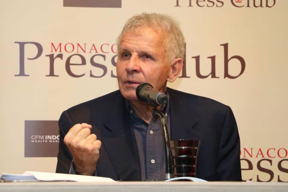Patrick Poivre d'Arvor, invité du Monaco Press Club au Métropole Monte-Carlo.
