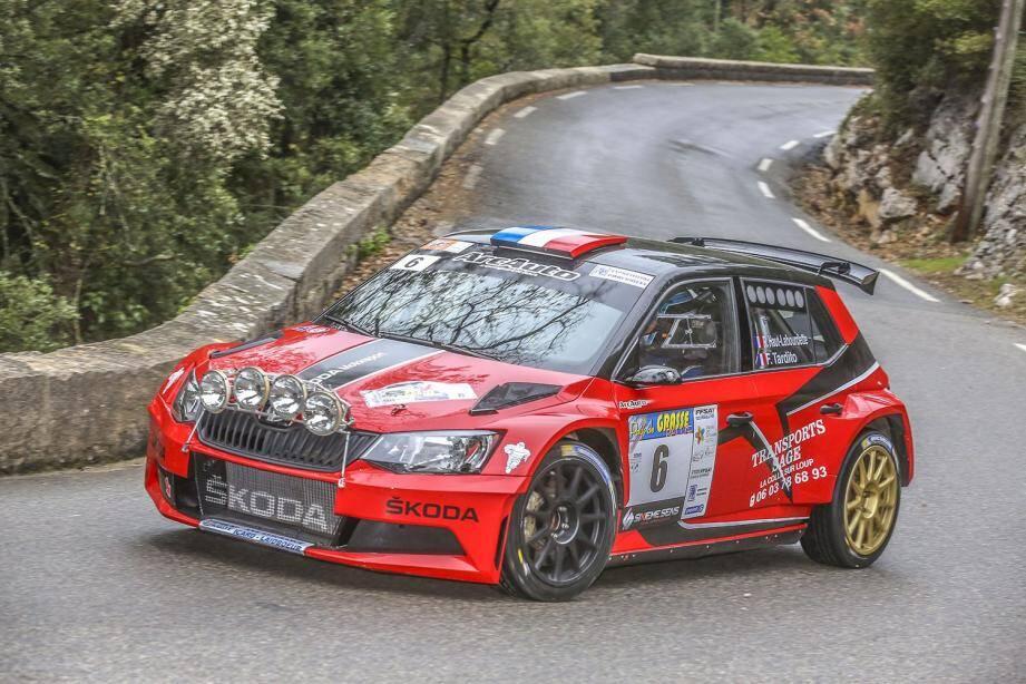 Deuxième à L'Escarène en 2017, le Cap-d'Aillois Romain Haut-Labourdette (Skoda Fabia R5, ici lors du récent Rallye du Pays de Grasse) vise encore haut ce week-end.