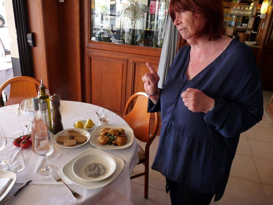 Michèle Viale du restaurant Charlot 1er.