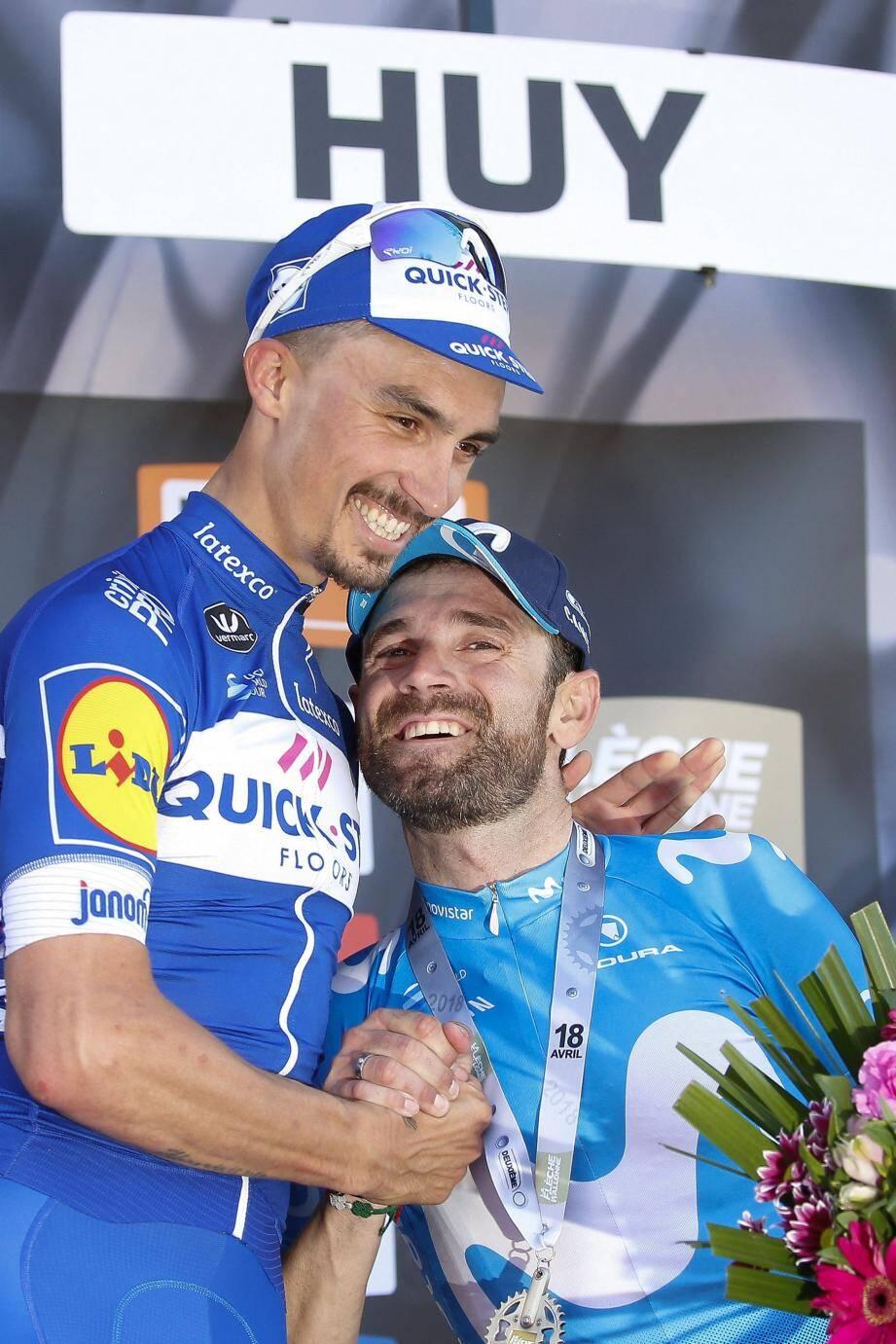 Alaphilippe et Valverde : chacun sa cible...