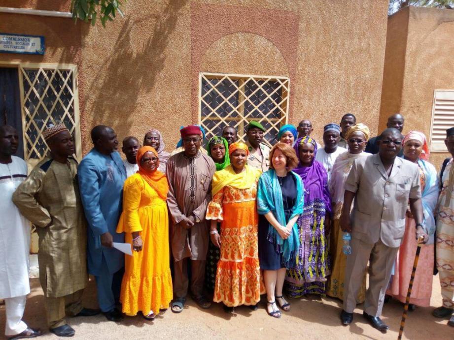 Les associations du réseau « Drépanocytose Afrique de l'Ouest Madagascar », accompagnées par Anne Poyard-Vatrican, Adjoint à la Direction de la Coopération Internationale.(DR)