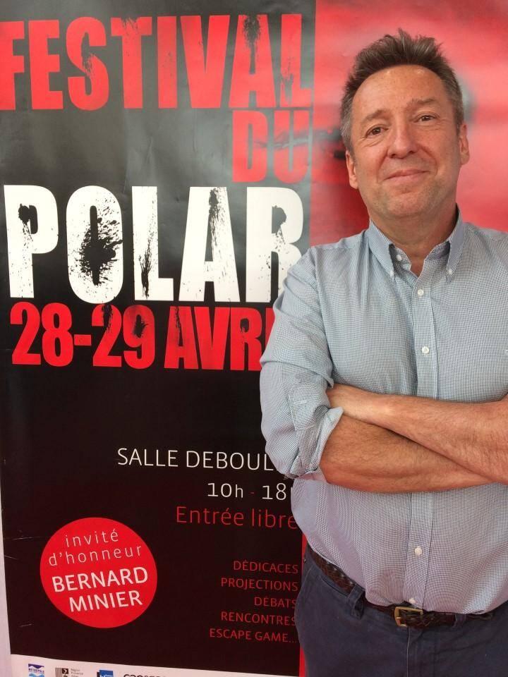 Ce week-end, le policier de Menton, Michel Tourscher était au Festival du polar de Saint-Laurent-du-Var pour présenter Une disparition. (J.B)