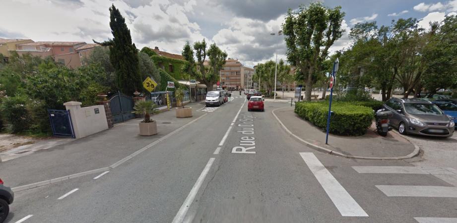 Vue de la rue du docteur Sigallas, où s'est déroulée l'accident.