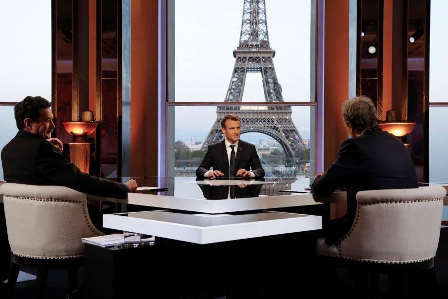Emmanuel Macron a été interviewé par Edwy Plenel et Jean-Jacques Bourdin.