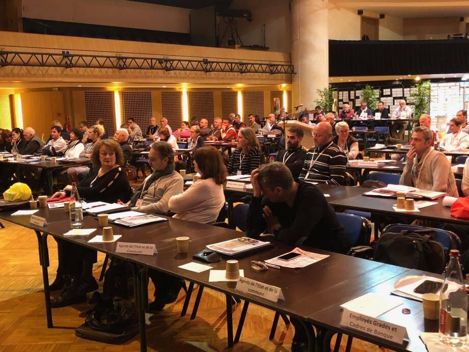 Ambiance studieuse, cette semaine, au congrès de l'Union des Syndicats de Monaco.