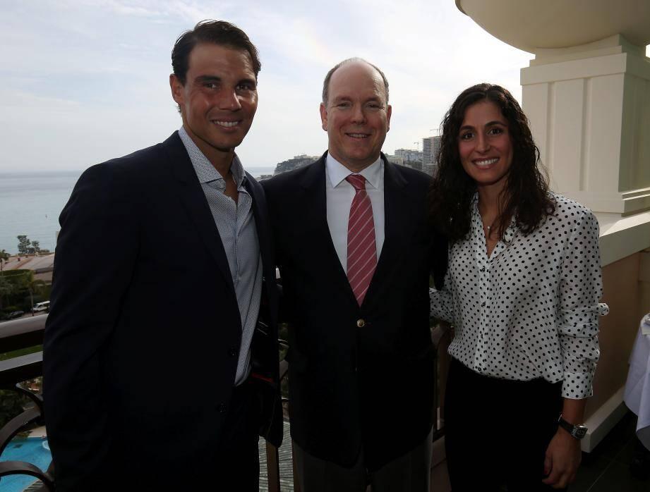 Rafael Nadal et sa compagne Xisca Perello ont accueilli le souverain dans leur suite du Monte-Carlo Bay.