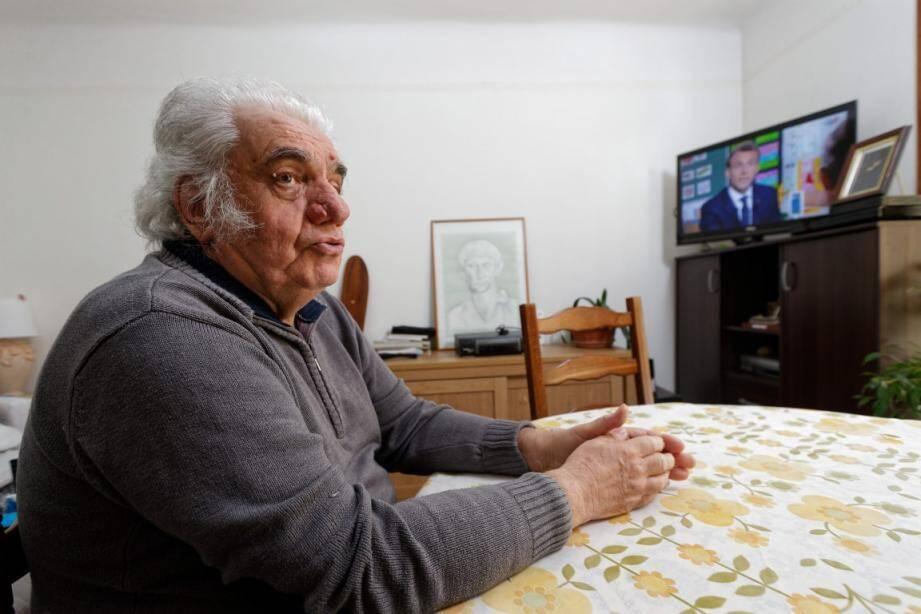 Cheminots, patrons, chômage: Daniel Bertone, retraité, a balayé tous les sujets durant l'intervention d'Emmanuel Macron, au JT de Jean-Pierre Pernaud.