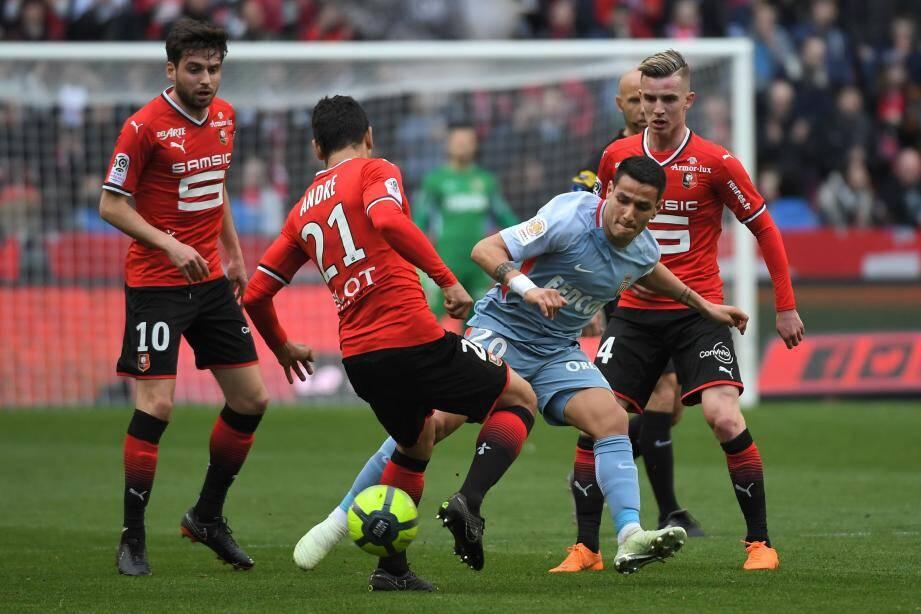 Monaco n'a pu se défaire de Rennes.