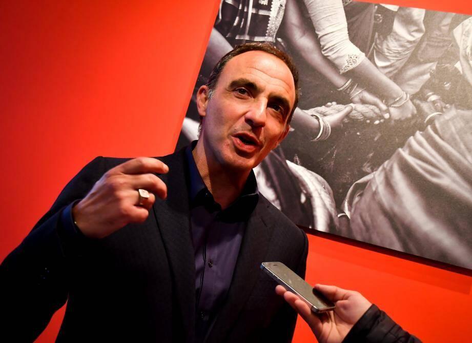 Nikos Alliagas à l'expo PhotoMonaco